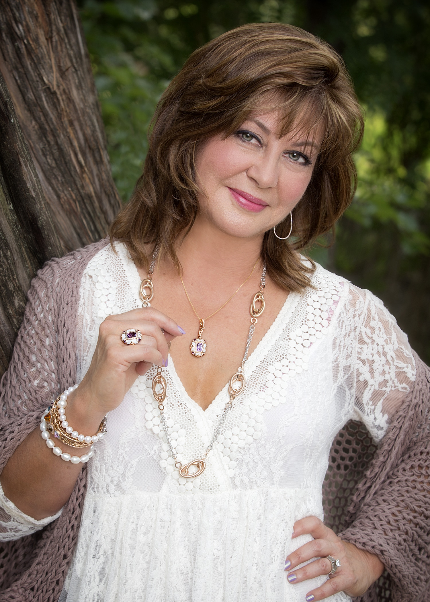 Nelleen McCormick in jewelry from Copeland Jewelers
