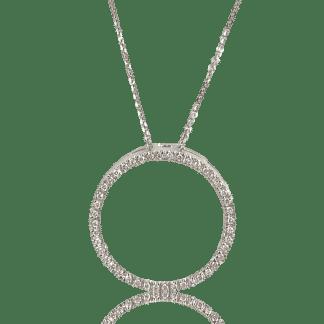 Diamond eternity circle pendant