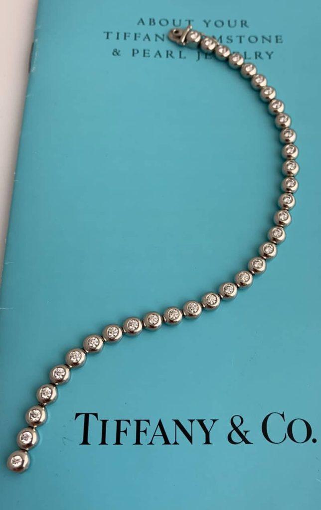 Tiffany Diamond Line Bracelet