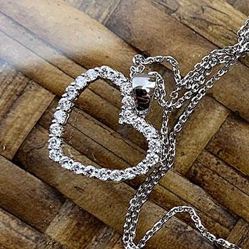 Riberra Diamond Heart Pendant