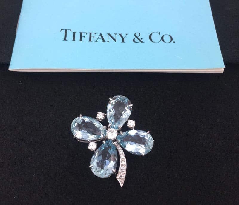 Tiffany Aquamarine Shamrock brooch