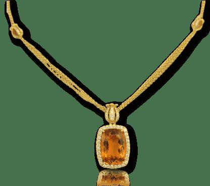 Danhier Citrine Tulip Necklace