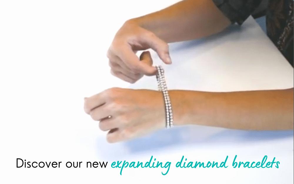 expanding diamond bracelet