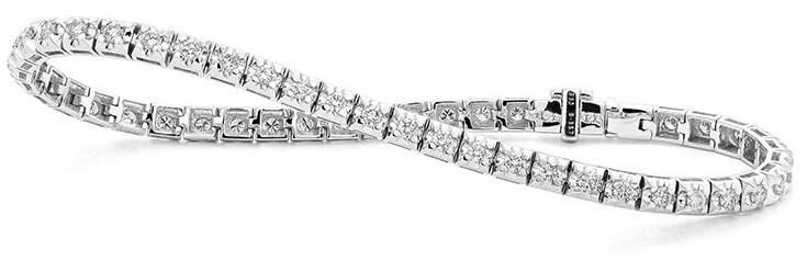 facet diamond square link bracelet