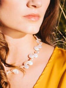 Austin's Best Female Vocalist, Jane Ellen Bryant in coin pearls.