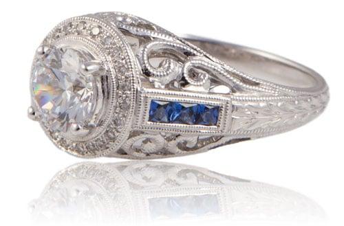 Beverley K diamond sapphire wedding ring