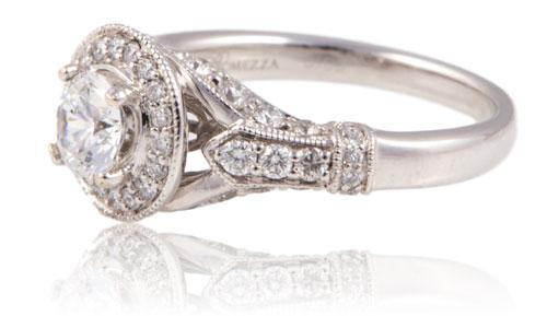 Beverly K Round Diamond Wedding Ring