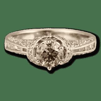 Champagne diamond engagement ring