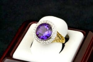 Large purple Amethyst ring.
