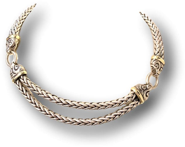 Sterling silver double rope necklace perfect for your Zoom meeting.
