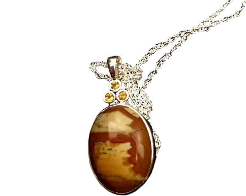 Jasper pendant with Citrine