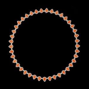orange jeweled necklace