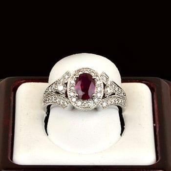 nasbro ruby and diamond engagement ring