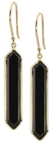 Olivia B Hexagon Onyx Earrings