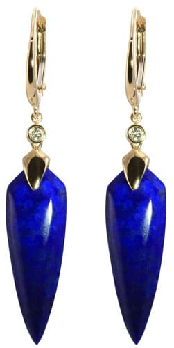 Our Lapis Shield Earrings come from one of our most popular American jewelry lines, Olivia B.