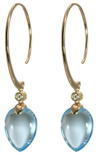 Stunning Blue Topaz Drop Earrings by Olivia B.