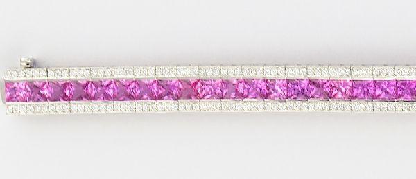 Philip Zahm pink sapphire tennis bracelet