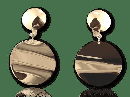 Dangling Gold Disc Earrings