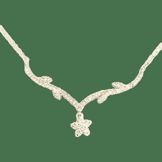 delicate Diamond Flower Necklace