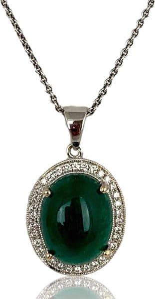 Shans Emerald Cabochon pendant