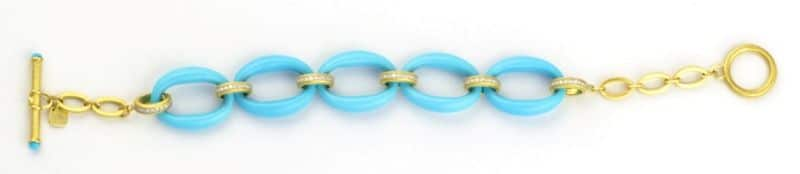 Sloane St. Turquoise Reversible Bracelet