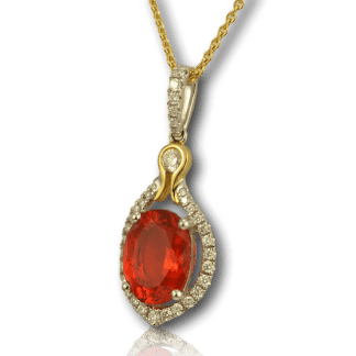 Fire Opal Pendant from Spark Creations