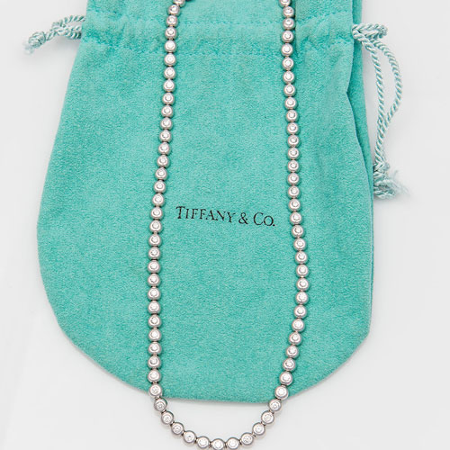 Tiffany & Co. platinum and diamond line necklace