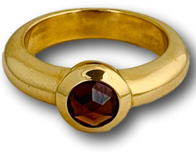 Tiffany contemporary garnet ring