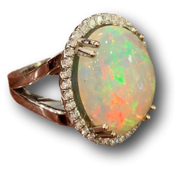 Weisman Opal Diamond Ring