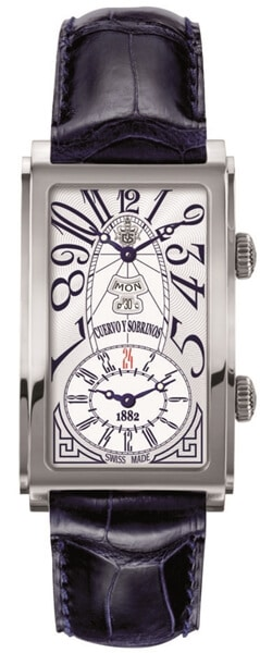Prominente Dual Time Quadrante with Day-Date by Cuervo Y Sobrinos