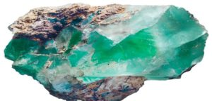 raw emerald crystal gemstone.