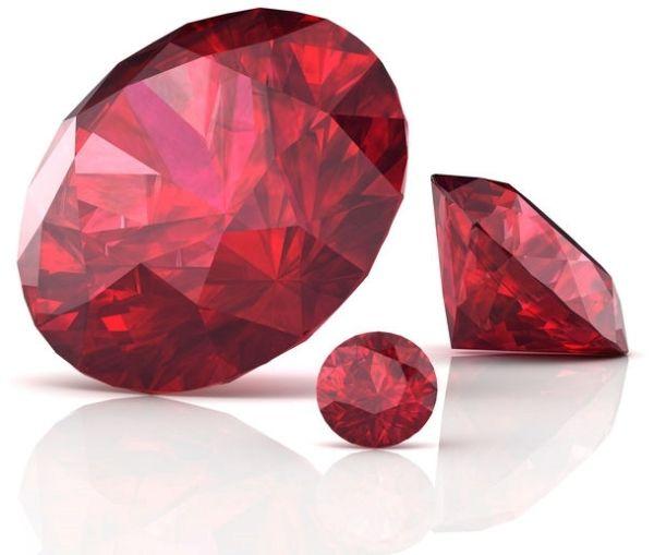 ruby gemstones in various sizes.