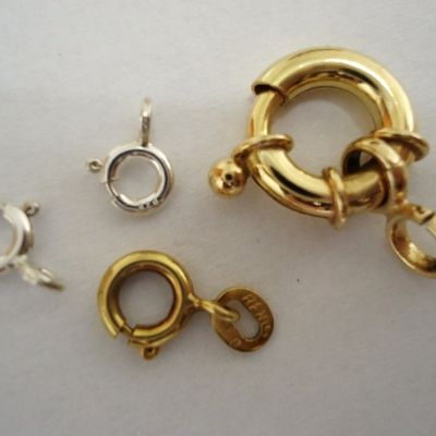 Spring Ring Jewelry Clasps.