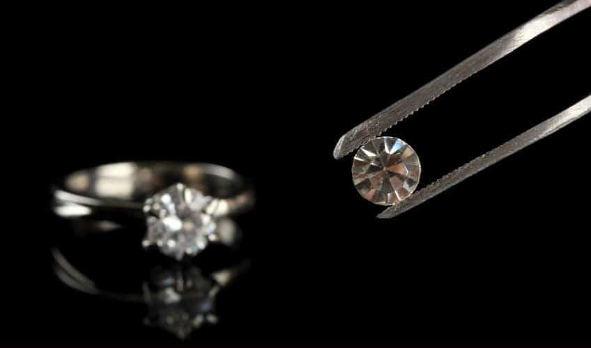 white diamond and white diamond ring