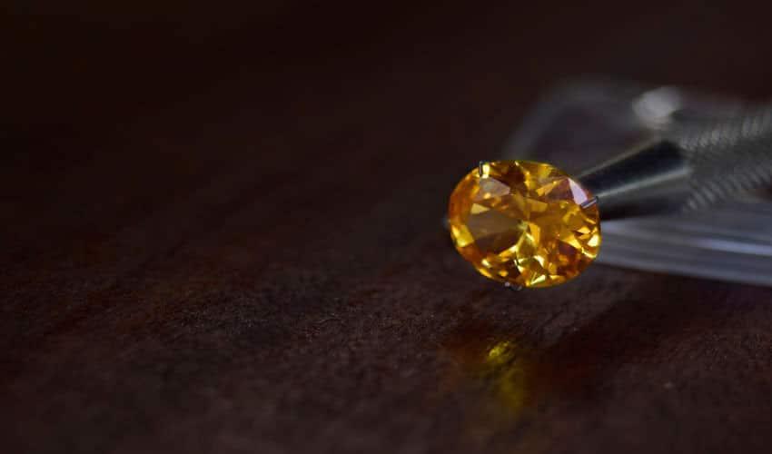 yellow colored fancy diamond