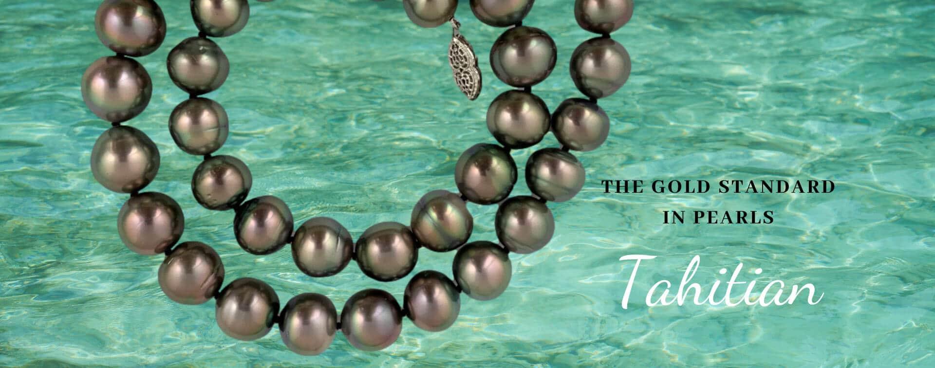 Tahitian Pearls over water banner