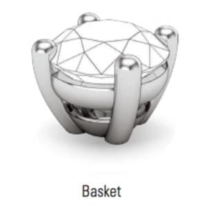 basket prong gemstone setting