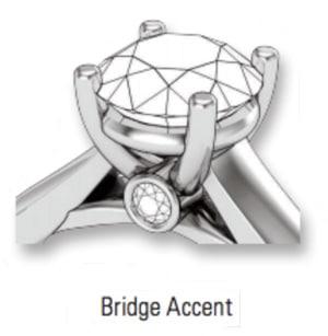 bridge accent gemstone setting