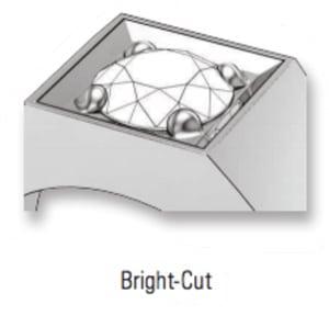 bright-cut prong setting