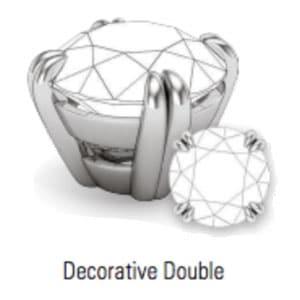 decorative double prong jewelry set type