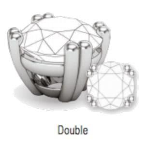 double prong stone setting
