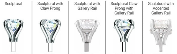sculptural settings with variations