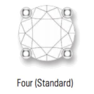 standard four prong setting