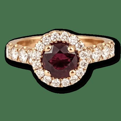 Ruby & Rose Gold Ring