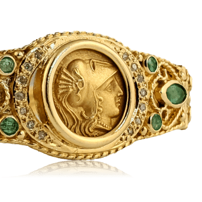 Athena Greek Coin Bracelet