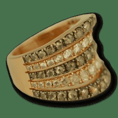 Cognac Diamond Rose Gold Band