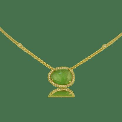 Lauren K Tsavorite Slice Necklace