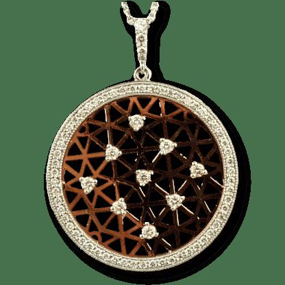 Rose Gold Diamond Disc