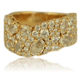 Rose Cut Diamond Cluster Band