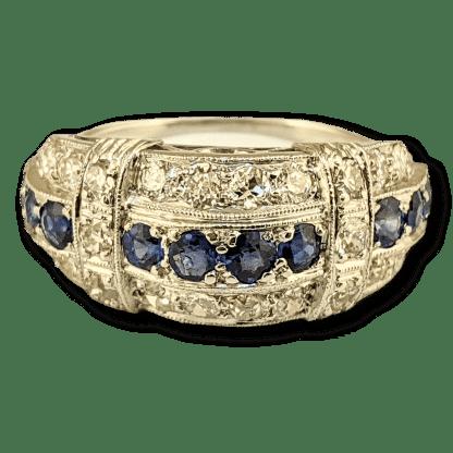 antique diamond & sapphire ring